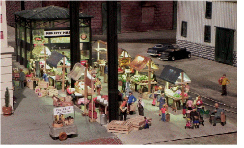 Figure 4.  Open Air Market in the Middle Period City