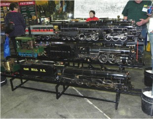 Figure 5.  Live Steam Locomotives