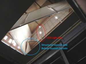 Figure Five- Angled Reflective Curtains