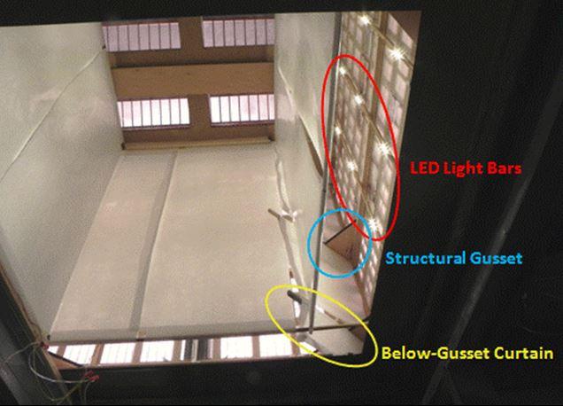 Figure Four- Parallel Reflective Curtains
