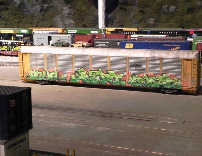 Figure 1.  Graffiti on a Freight Car in the Modern Yard