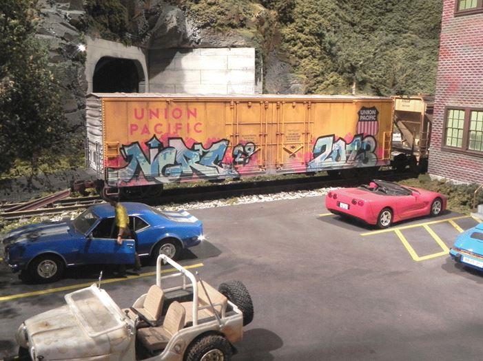 Figure 2.  Graffiti on a Boxcar at the Plastics Factory
