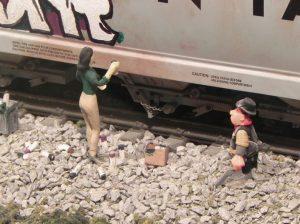 Figure 4. Graffiti Artist Still at Work