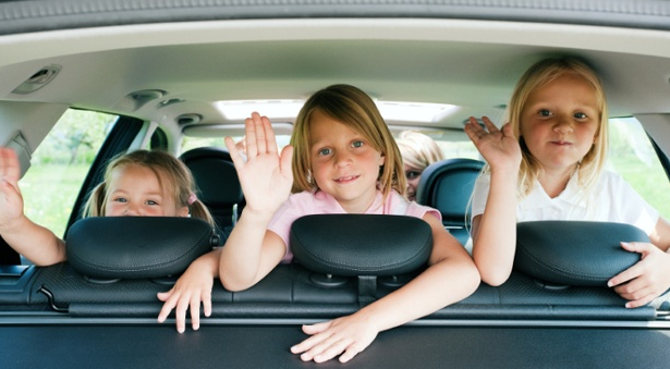 Keeping kids entertained in the car.