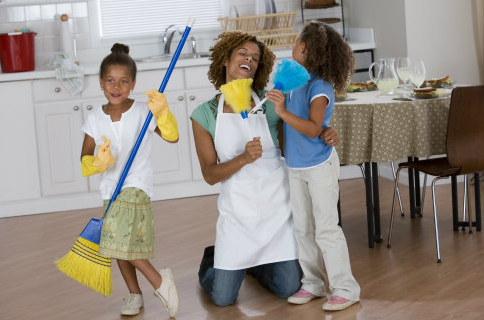 Cleaning Tips with Kids