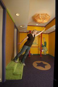 Fun house tilt room