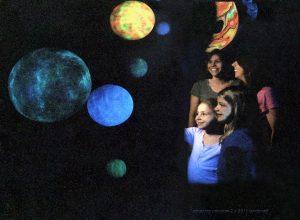 Blacklight planet room