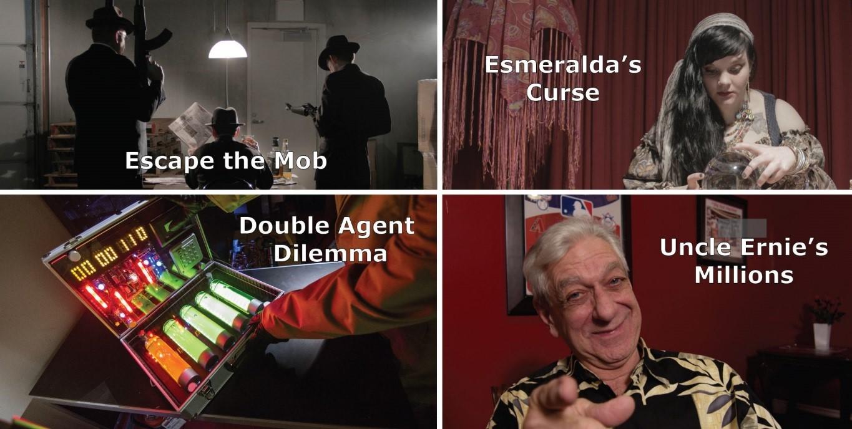 four unique escape room themes