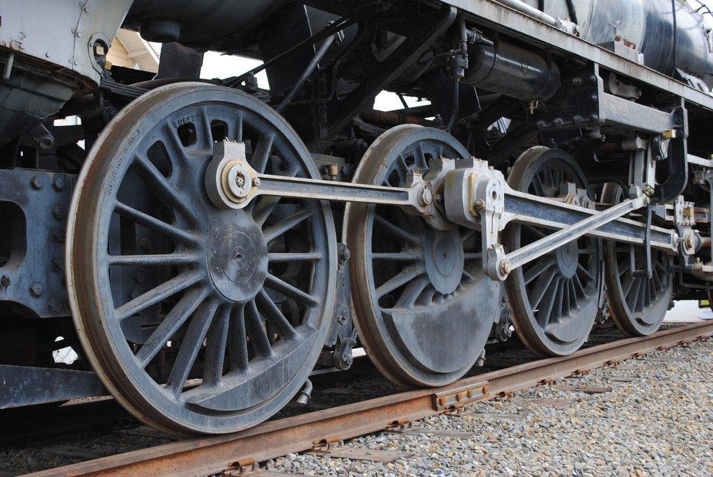 Train Wheel Close Up Entertrainment Junction