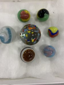 Collection of her favorite marbles