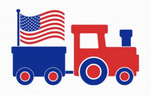 Red White and Blue Train