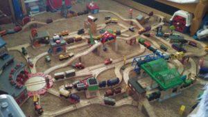 train layout