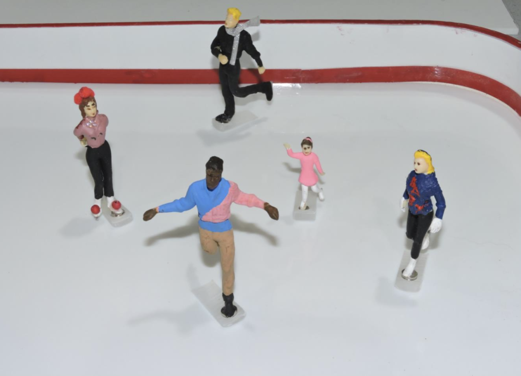 Figure 4. Skaters Over Their Turntable Magnet